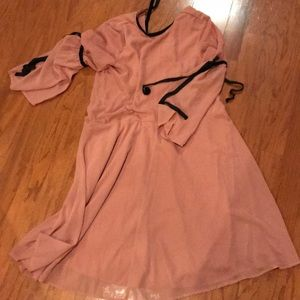 Dusty Pink Loose Fitting Dress